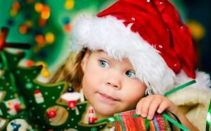 children-girl-santa-claus-christmas-tree-gift-blue-eyes-hd-wallpaper
